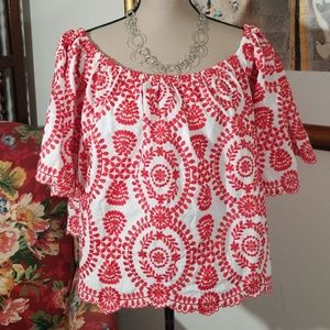 Chic Wish off shoulders embroidered top.